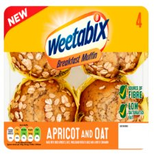 Weetabix Apricot And Oat Breakfast Muffin 4 Pack