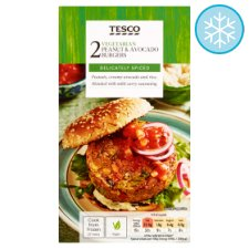 Tesco 2 Vegan Peanut And Avocado Burgers 227G
