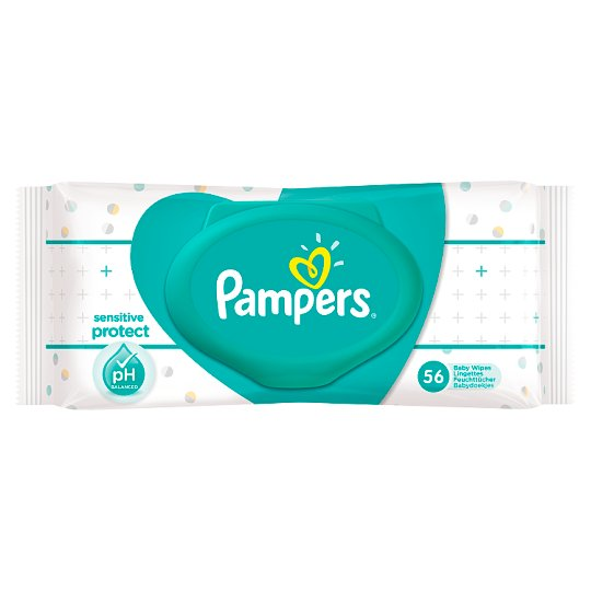 Pampers Sensitive Baby Wipes 56 Pack Tesco Groceries