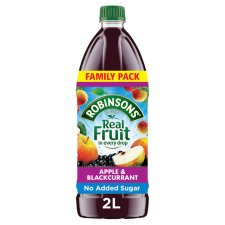 Robinsons Apple & Blackcurrant No Added Sugar Squash 2L