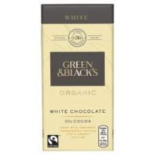 Green & Blacks Organic White Chocolate Bar 100G
