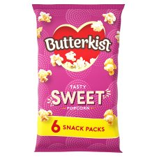 Butterkist Cinema Sweet Popcorn 6X12g
