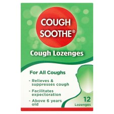 Cough Soothe 12 Lozenges For All Coughs
