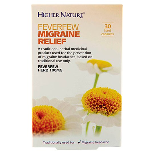 Higher Nature Migraine Relief 30 Caps