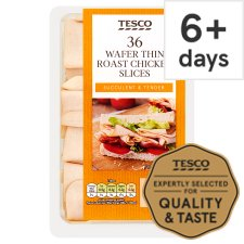 Tesco 36 Wafer Thin Roast Chicken Slices 400G
