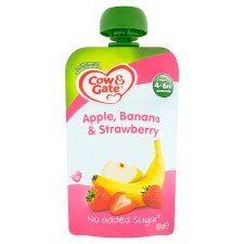 Cow And Gate Apple Strawberries And Banana Fruit Pouch 100G
