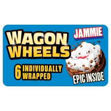 Burtons Wagon Wheels Jammie Biscuit 6 Pack