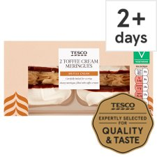 Tesco Fresh Toffee Cream Meringues 2 Pack