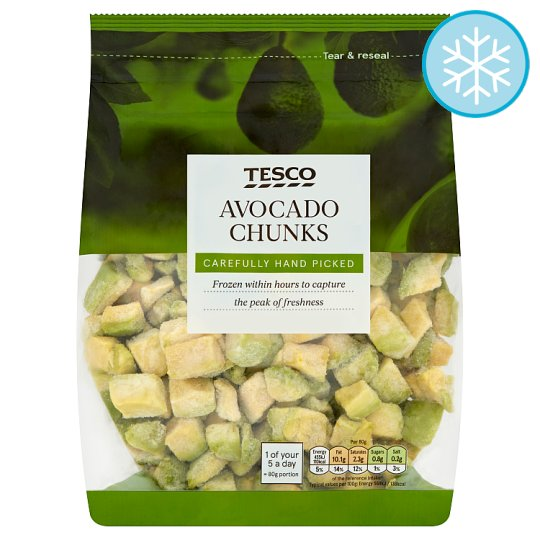 Tesco Frozen Avocado Chunks 500G