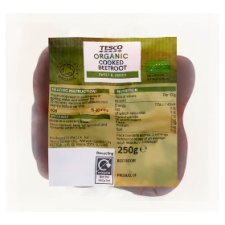 Tesco Organic Vacuum Pack Beetroot 250G