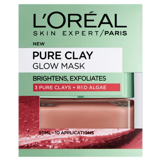 image 1 of L'oreal Pure Clay Glow Mask Red 50Ml