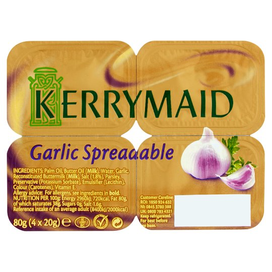 Kerrymaid Garlic Spreadable Handi Pack 4X20g