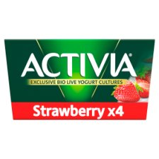 Activia Strawberry Yogurt 4 X125g