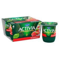 image 2 of Activia Strawberry Yogurt 4 X125g