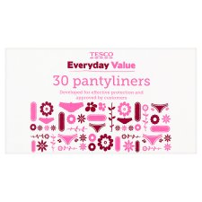 Tesco Everyday Normal Panty Liners 30 Pack