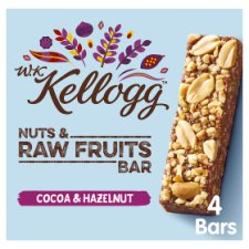 Wk Kellogg Nut & Fruit Cocoa & Hazelnut Bar 4X30g