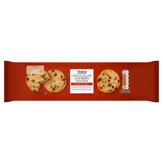 Tesco Chocolate Chip Cookie 2 X 250G