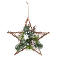 Tesco Silver Rattan Star Wreath