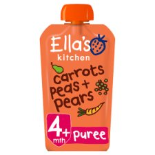Ella's Kitchen Carrots Peas Pears Stage 1 X 120G