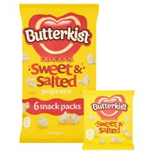 image 2 of Butterkist Sweet And Salted Multipack 6X15g