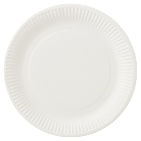 Tesco Basic Paper Plates 22Cm 50 Pack