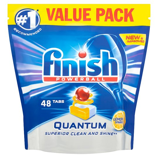 image 1 of Finish Quantum Max Lemon 48 Dishwasher Tablets