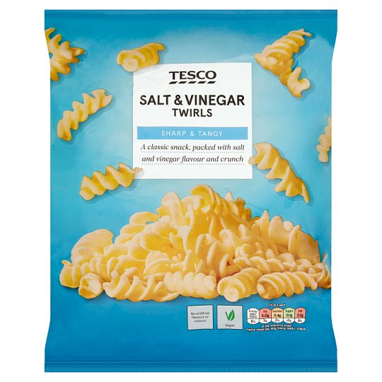 Tesco Twirls Salt And Vinegar Snacks 125 G