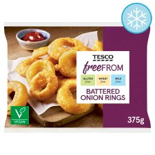 Tesco Free From Battered Onion Rings 375G