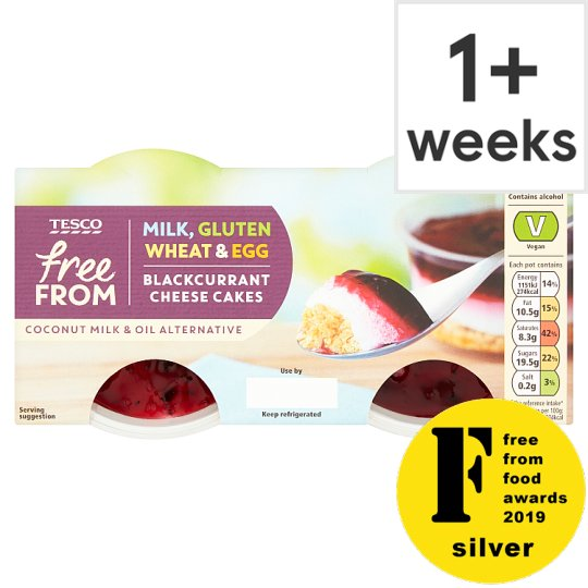 Tesco Free From 2 Blackcurrant Cheesecake 100G