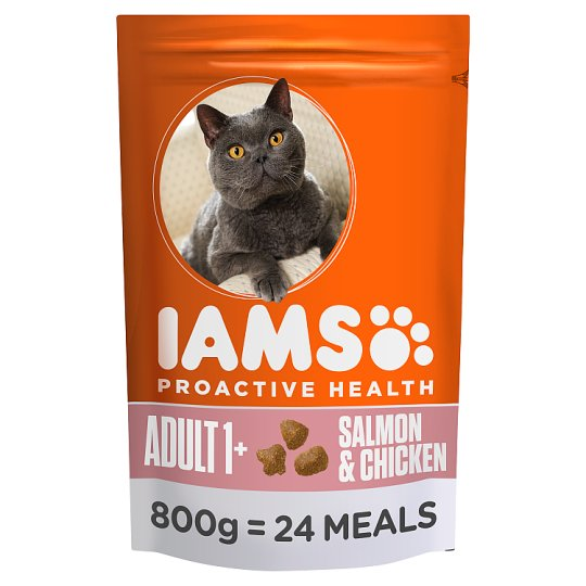 Iams Cat Food Adult Salmon And Chicken 800G