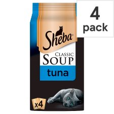 Sheba Soup Tuna Cat Food Pouches 4 X40g
