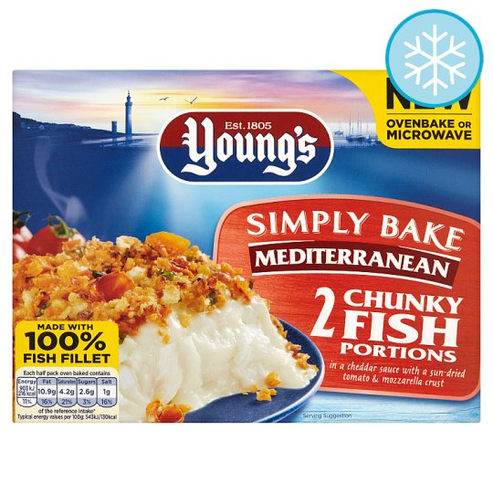 Youngs Simply Bake 2 Mediterranean Fish Portions 350G