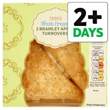 Tesco Cream Bramley Apple Turnover 2 Pack, 176 G