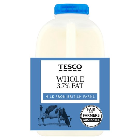Tesco British Whole Milk 568Ml/1 Pint