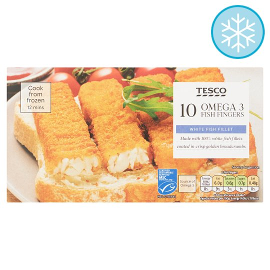 Tesco 10 Omega 3 Fish Fingers 300G