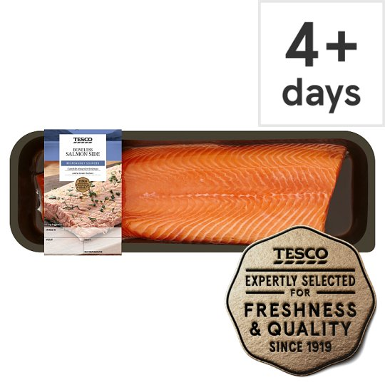 Tesco Whole Undressed Salmon Side 1kg Serves 6-8