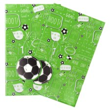 Tesco Football 2 Sheets 2 Tags