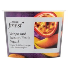 Tesco Finest Mango And Passion Fruit Yogurt 150G