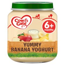 Cow & Gate Yummy Banana Yogurt 6Mth+ 125G Jar
