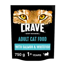 Crave High Protein Dry Cat Food Salmon And Fish 750G