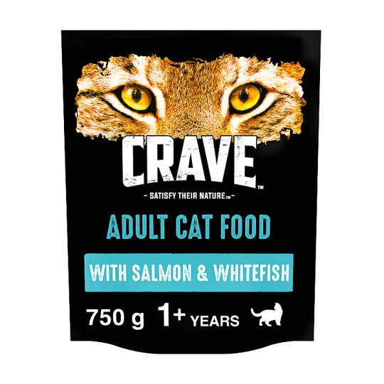 image 1 of Crave High Protein Dry Cat Food Salmon And Fish 750G