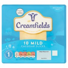 Creamfields Mild Cheddar 10 Slices 200G