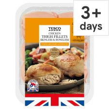 Tesco British Chicken Thigh Fillets 600G