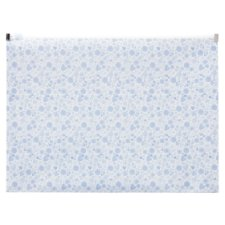 Tesco Periwinkle Zipper File