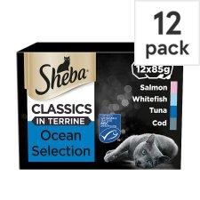 Sheba Ocean Selection Terrine Cat Food Trays 12 X85g