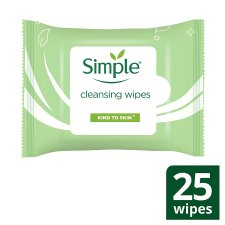 Simple Kind To Skin Cleansing Face Wipes 25 Pack