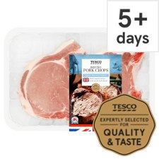 Tesco Pork Loin Chops 2 Pack 450G