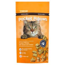 Tesco Pocket Pillow Chicken And Cheese Cat Treats 65G