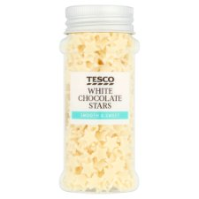 Tesco White Chocolate Stars 40G