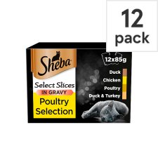 image 1 of Sheba Poultry In Gravy Cat Food Pouches 12 X85g